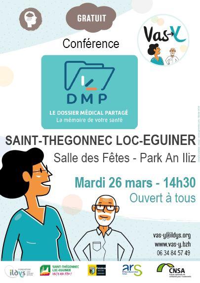 Conférence : LE DOSSIER MEDICAL PARTAGE, LA MEMOIRE DE VOTRE SANTE