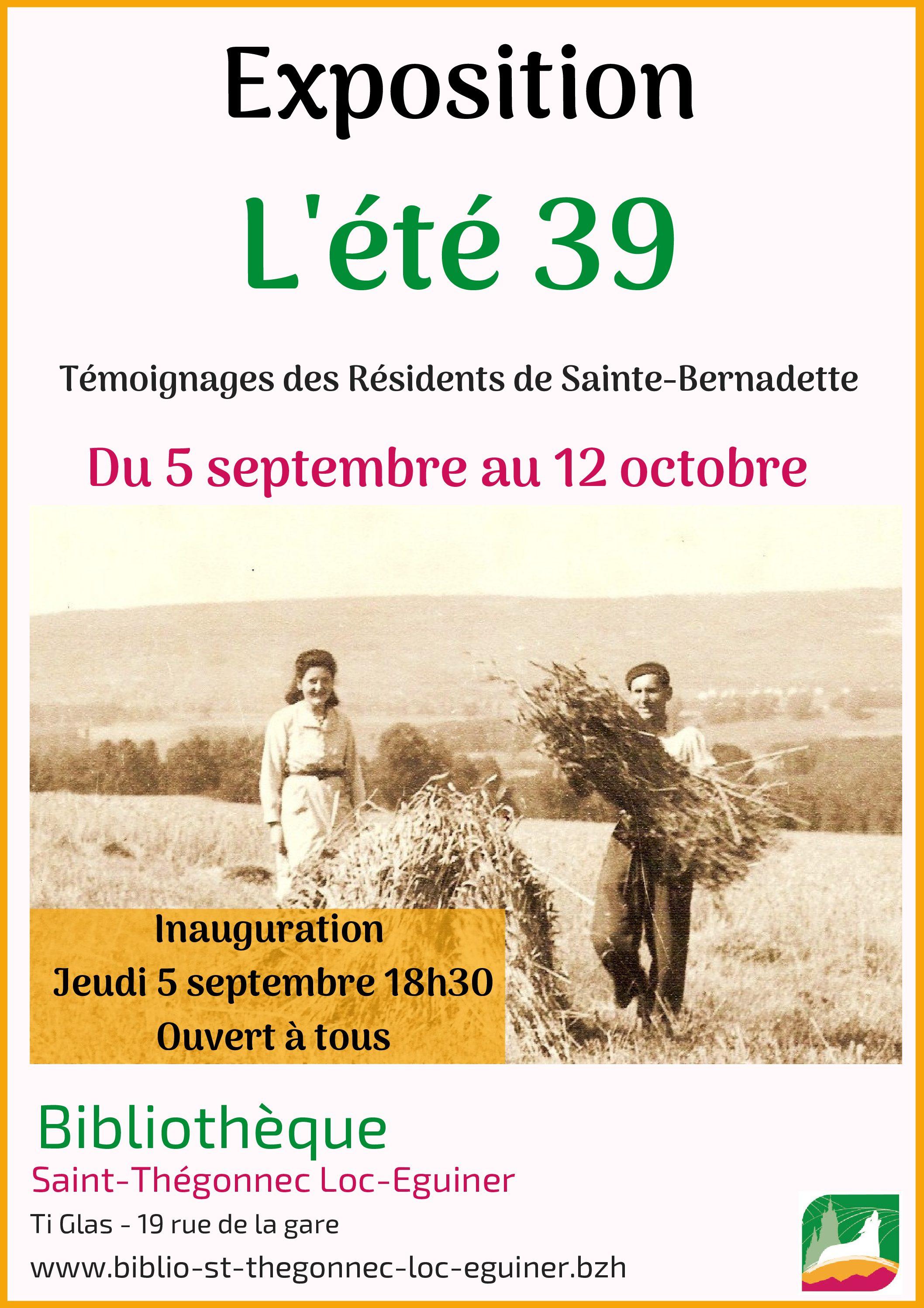 """EXPOSITION """"L'ÉTÉ 39"""""""