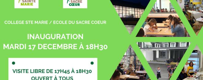Inaugurations au Collège Sainte-Marie et à l'Ecole du Sacré-Coeur