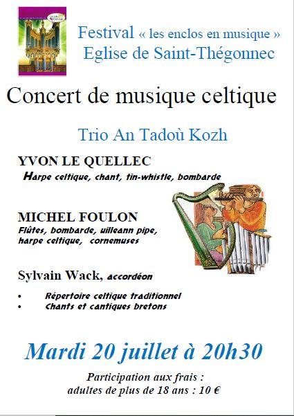 Concert de musique celtique